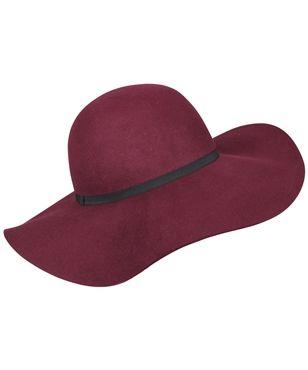 BURGUNDY MILLER FLOPPY HAT