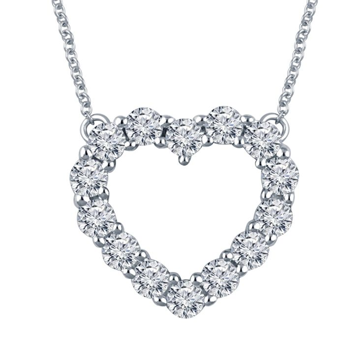 1/3CTW IN 14KT WHITE GOLD AND DIAMOND HEART PENDANT TC HA 18 INCHES - Michaels Jewelers