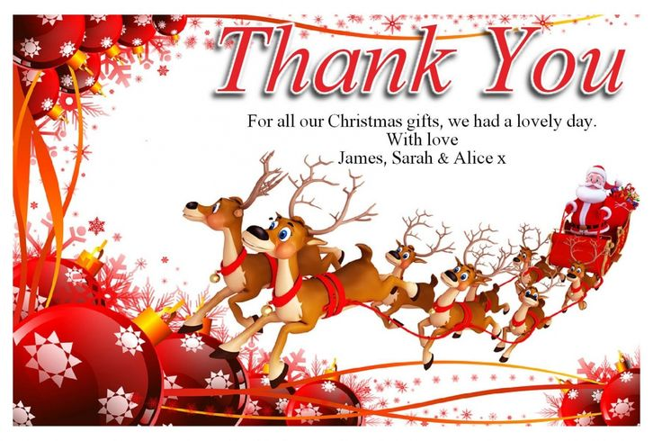 Thank You Cards Christmas