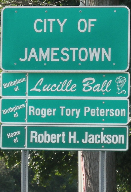 My birthplace Jamestown, New York, also hometown of Lucille Ball
