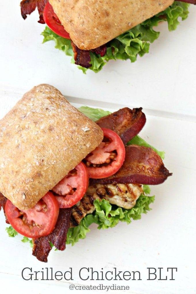 delicious Chicken BLT Sandwich @hellmanns @bestfoods #ad #squeezemoreout  @createdbydiane