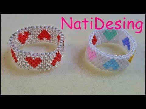 Bracelet tutorial. Easy beading pattern - YouTube