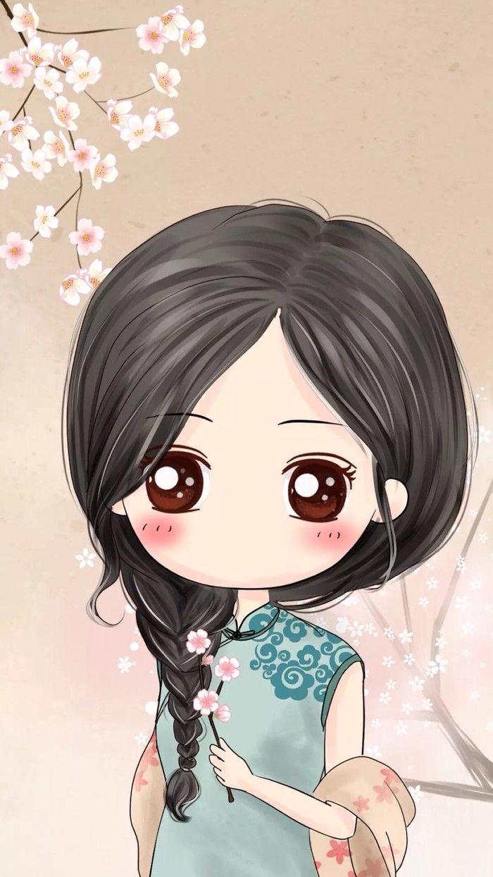 Wei imagen de papel tapiz precioso niña caracteres lindos versión Meng Meng Q Figura