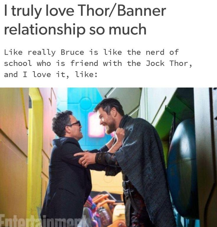 Thor and bruce. Thor Ragnarok