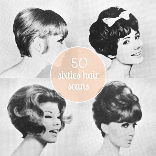 Scathingly Brilliant: Freebie // 50 sixties hair scans