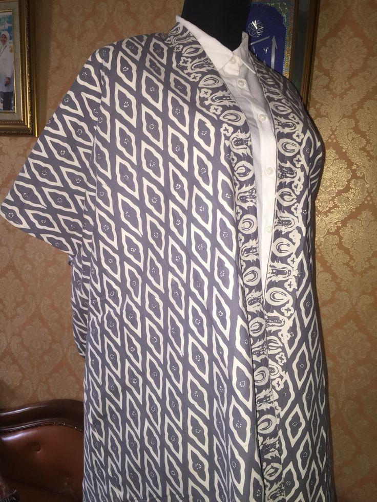 grey garuda batik outer