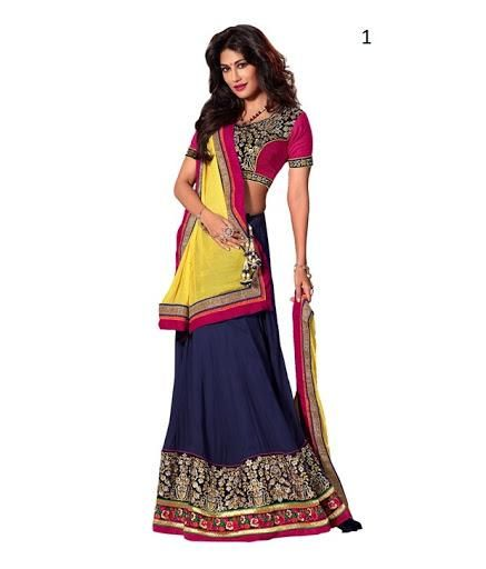 Indian Lehenga Saree Online, Lehenga Saree Online Shopping In India, Indian Designer Lehenga Sarees Online - Fabdeal