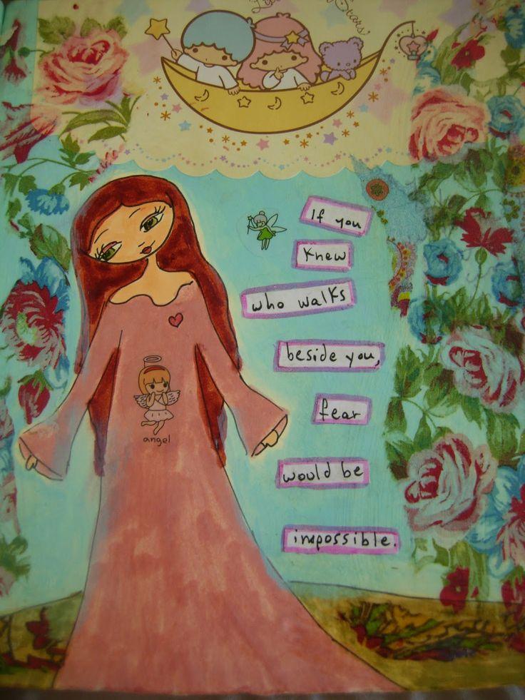 A PINK DREAMER: summer mixed media art!