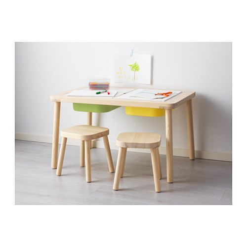 FLISAT Children's table - IKEA- excellent tub table for sensory play, use Trofast tubs
