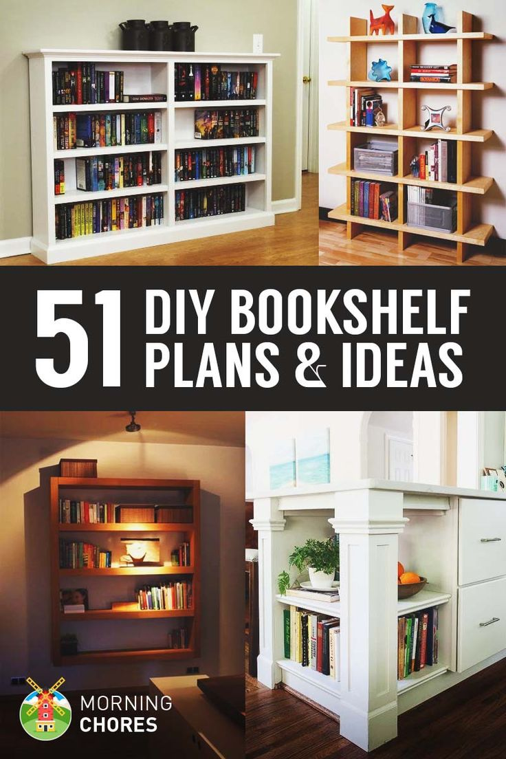 Need a place to organize your books? Here's a collection of 51 DIY bookshelf/bookcase plans and ideas that are look good and easy to build.