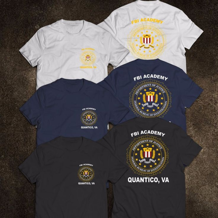NEW FBI Academy Quantico VA Police United States Department Of Justice T-Shirt #Gildanorother #GraphicTee