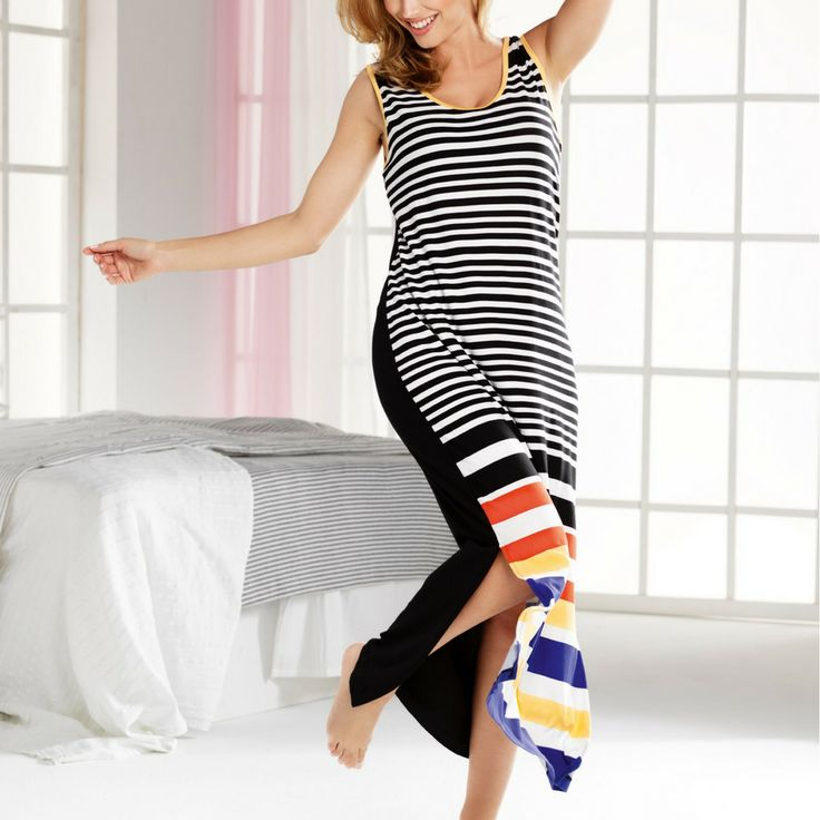Cybele Stripe Jersey Nightdress or Beach Cover Up - 8/10/12/14/16/18