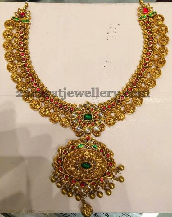 Kundan Necklace with Flower Clasps | Jewellery Designs