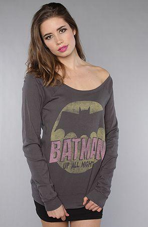 The Batman Up All Night Off Shoulder Raglan : Junkfood Clothing :