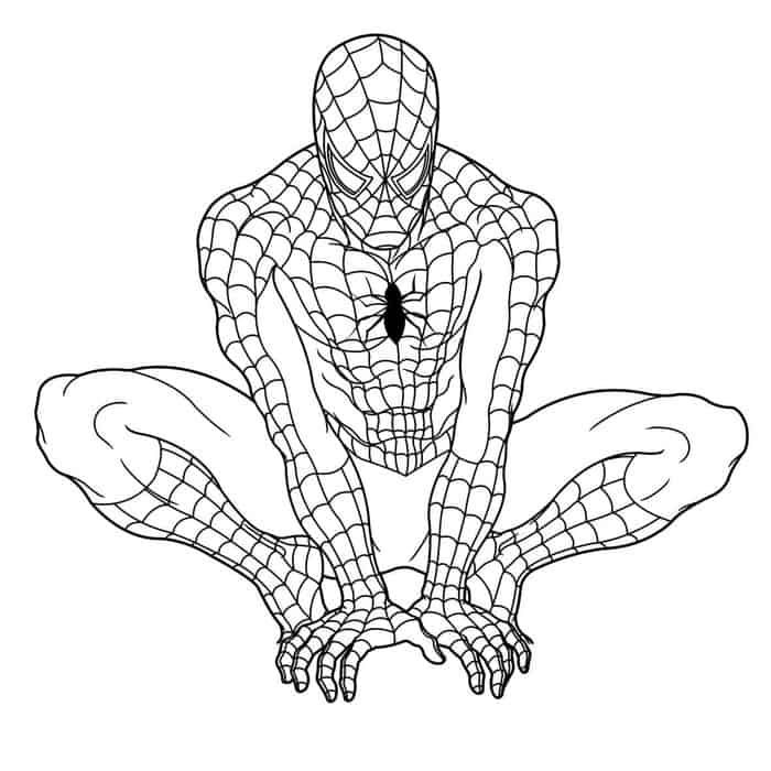 Spiderman Pictures To Print Spiderman Coloring Pages Online Spider Man Homecoming Colorin Avengers Coloring Pages Superhero Coloring Pages Superhero Coloring