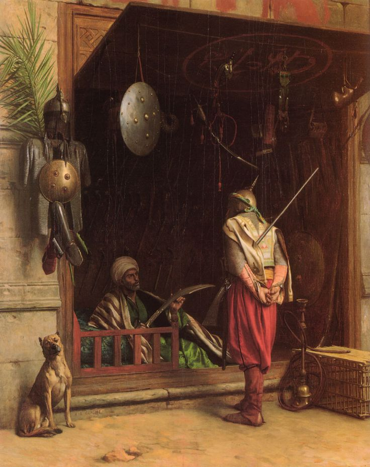 1866 -TShirt- Mens Long Sleeve Yizzam- Jean-Leon Gerome The Slave Market