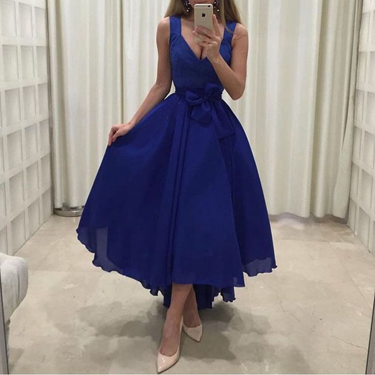 Sexy Royal Blue Prom Evening Dress Party Gowns