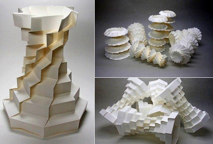 Творческая деятельность Джуна Митани геометрическое 3D-оригами