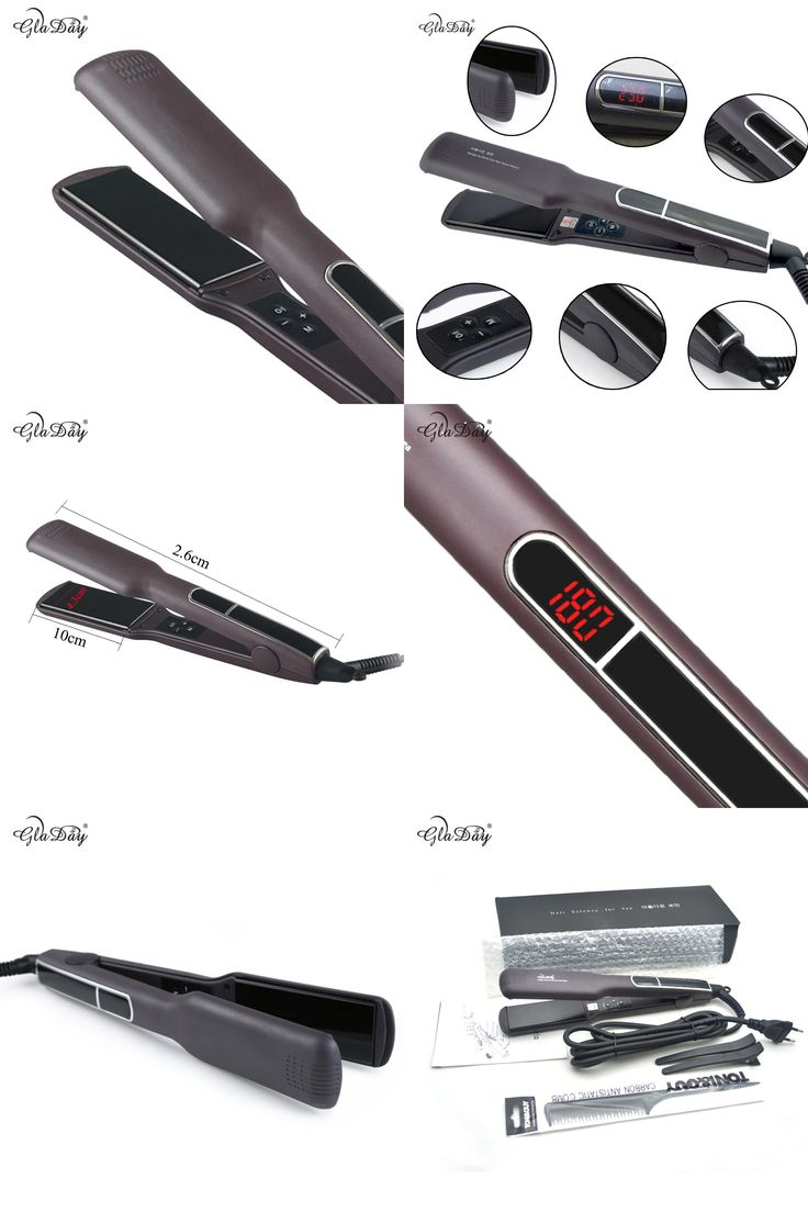 [Visit to Buy] 1.5 inch tourmaline Ceramic Hair Straightener with 2 in 1 functions intelligent LCD hair straightening irons #Advertisement