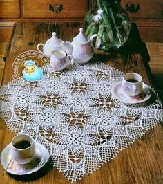Nice Square Doily More Doilies And Tablecloths With Clear Patterns Are In This Valuable Magazine