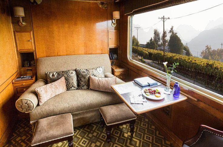 The Blue Train Luxury Suite during the day