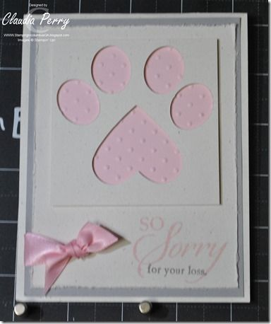 dog paw, Sympathy, pet, Stampin' Up!