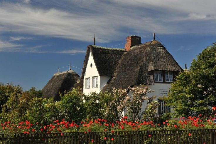 Frisian house in Keitum, Sylt, north Germany