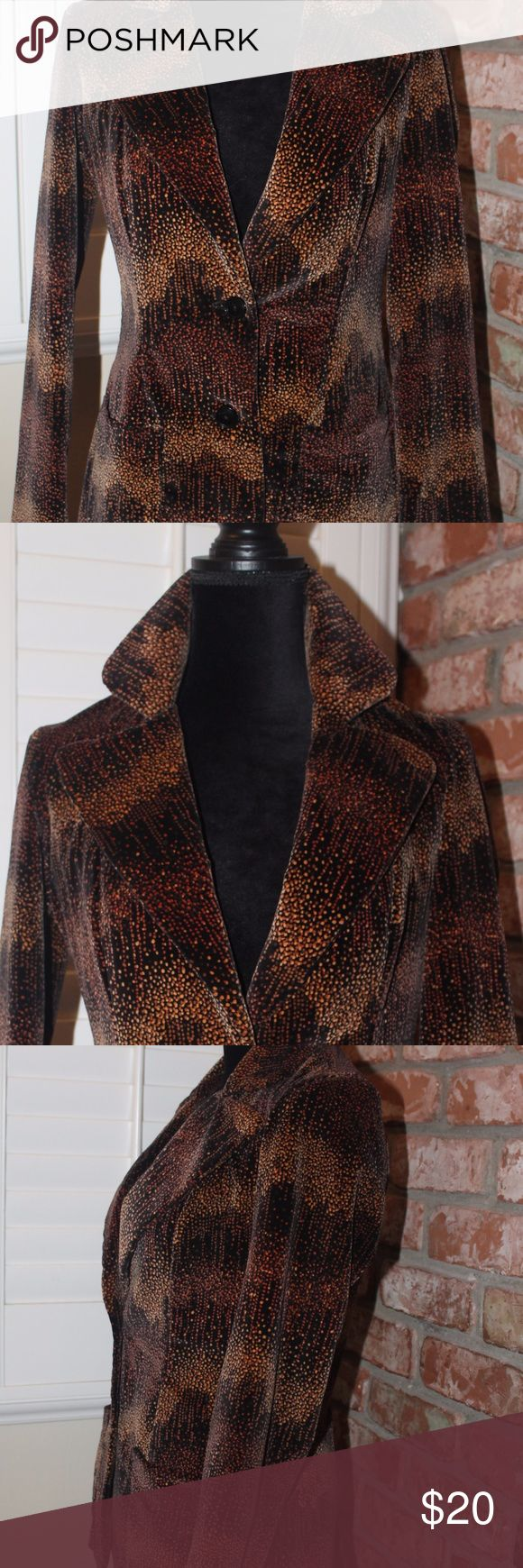 Absolutely Fabulous Vintage Alison Robert Jacket This is such a great jacket!  It is velvet on the outside, satin on the inside (see pics) I love the pattern -It reminds me of fireworks coming down or champagne bubbles?! Either way, I love this jacket and someone needs to wear it again - it has so much life left!  Great condition!! Tag says Size 10 but I think it fits more like an 8 (I can get specific measurements if needed).  I am happy to answer any questions! Alison Roberts Jackets…