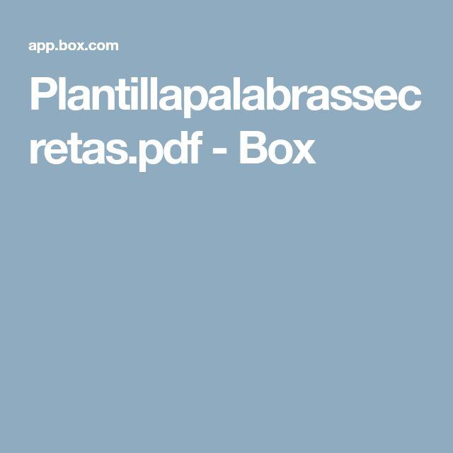 Plantillapalabrassecretas.pdf - Box