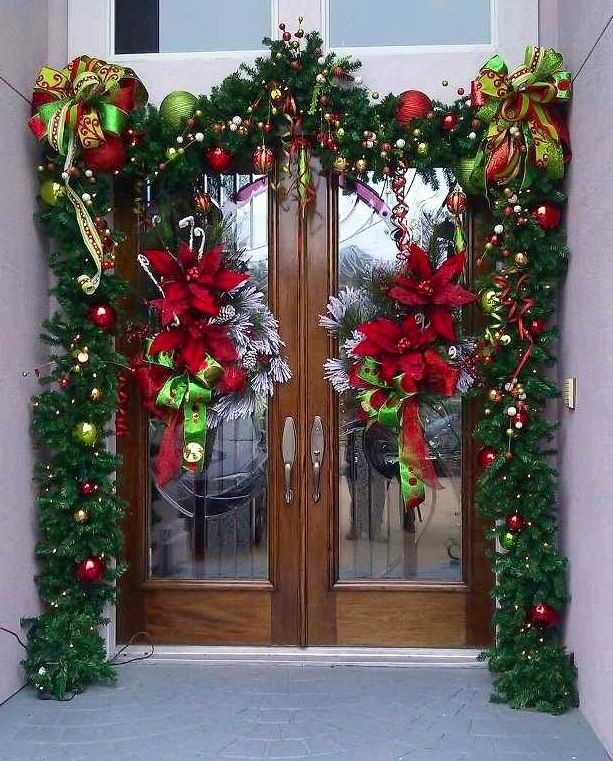 173 Best Christmas Outdoor Decorations Images On Pinterest Door Front Doors And Time