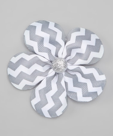Take a look at this Gray Zigzag Clip by Sweet As Can Bee on #zulily today!