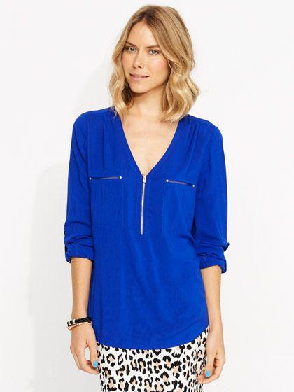 Vixen Viscose shirt #portmans #backtowork #blue