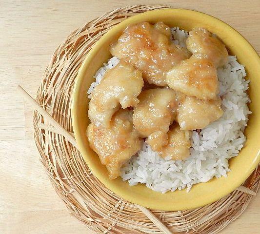 Coconut Chicken - Sub coconut oil for canola oil; use whole wheat flour in place of cornstarch (ratio - 2:1)