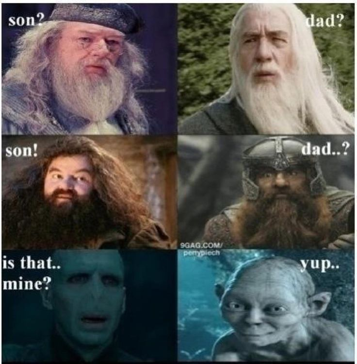 dad, haha, harry potter, lord of rings, son