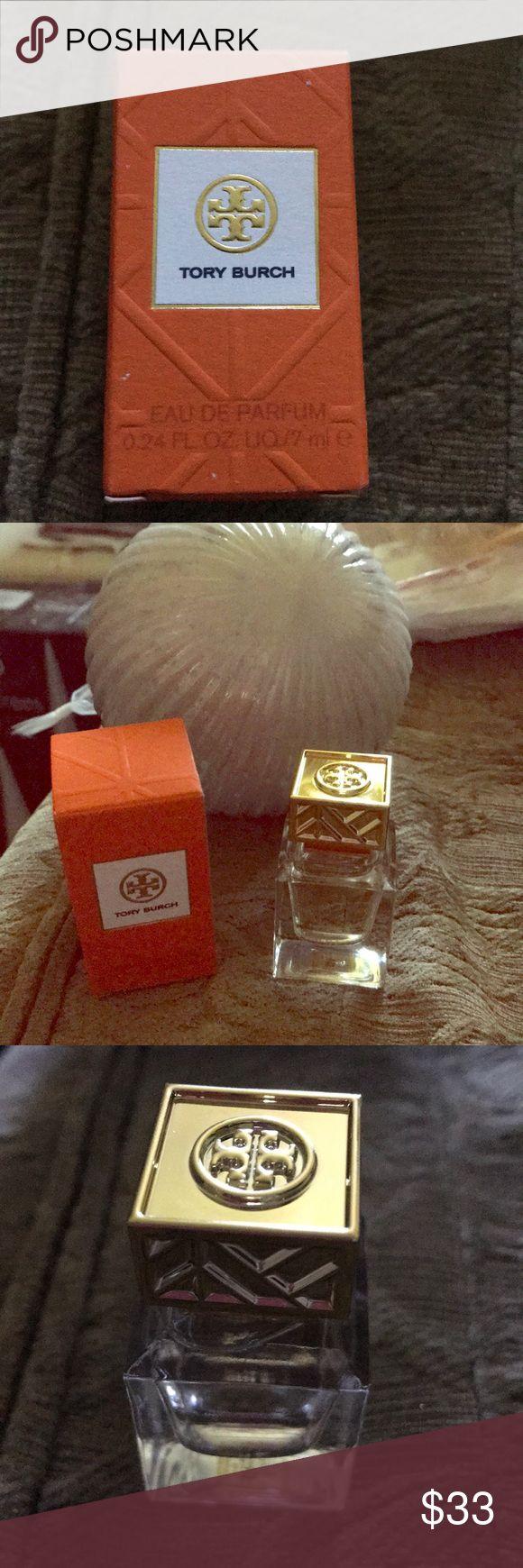Tory Burch EAU de PARFUM .24 oz new in box Great little stocking stuffer Tory Burch Perfume NIB .24 oz pretty gold cap. Smells amazing! Nice gift or keep it for yourself! Tory Burch Other