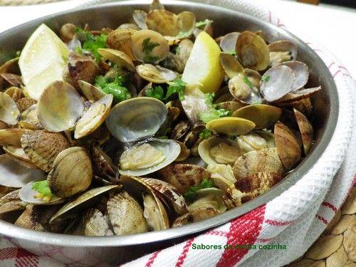 ameijoas à bulhão pato,the delicious clams