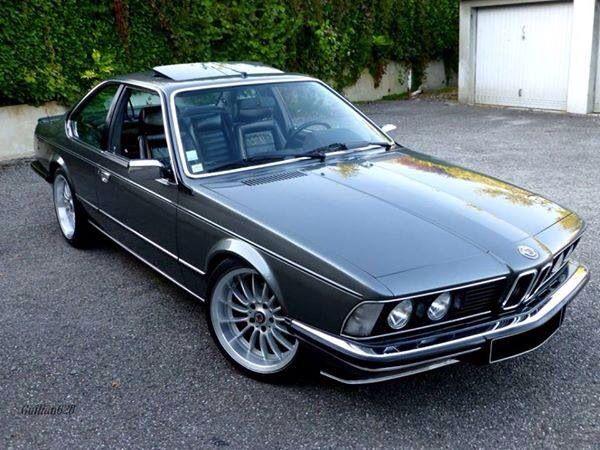 BMW 635 CSI dark silver custom... J'adore!!!