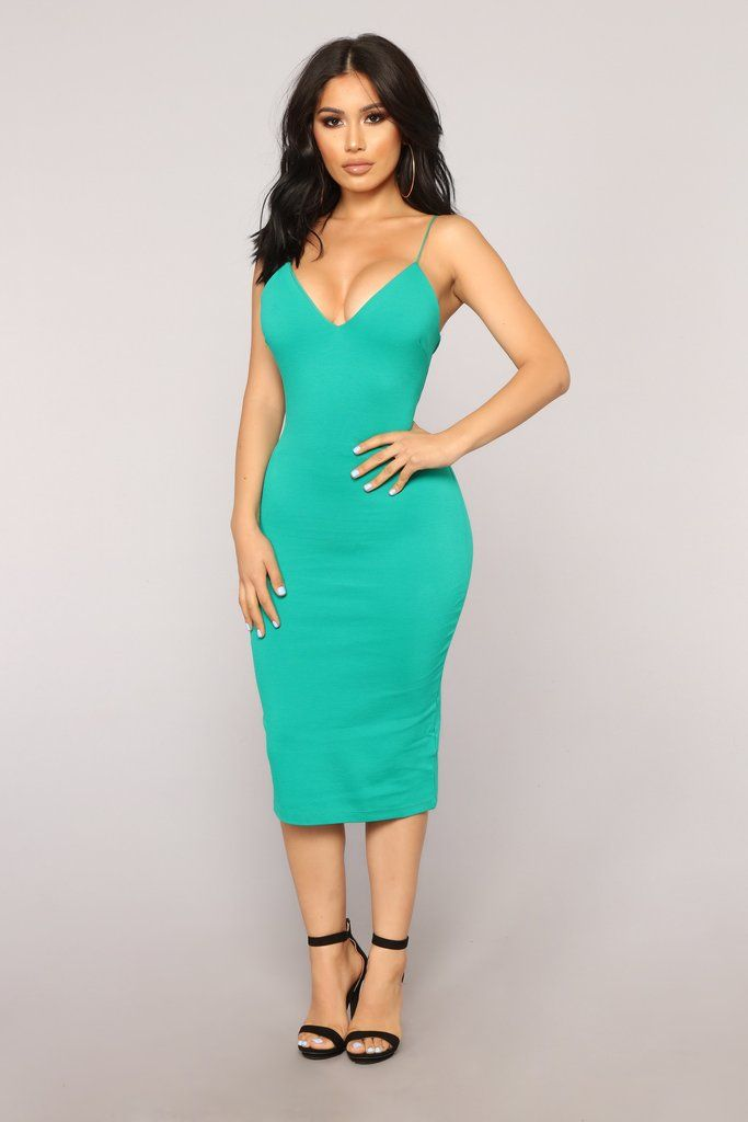 5d7101e386 Dynamic Brights Midi Dress - Kelly Green in 2019