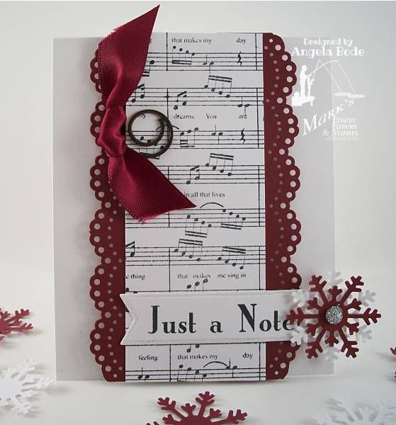 250 best cards sheet music images on pinterest christmas cards just a note card in holiday colors with snowflake m4hsunfo