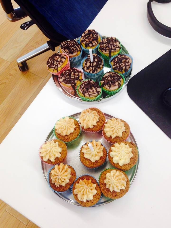 Cupcakes by @modeofstyle to celebrate Ben's birthday #ZealTreats #LifeatZeal #Cake