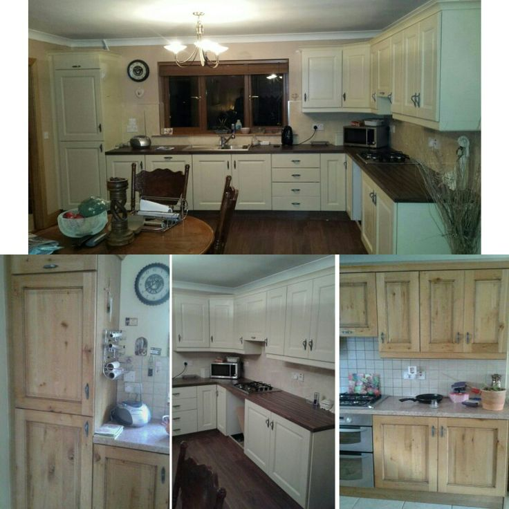 Jmc coatings re spraying of kitchens from pine to golden wheat