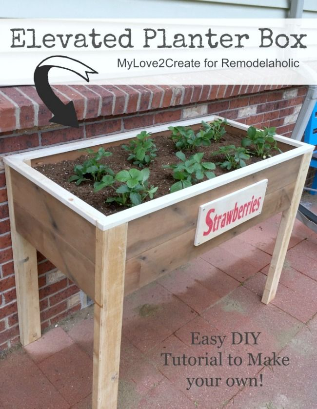Make Your Own Elevated Planter Box With Free Building Plans At  MyLove2Create #InspirationSpotlight
