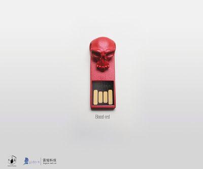Nos encantan las calaveras y de esta llave USB; nos hemos enamorado. FF-Skull