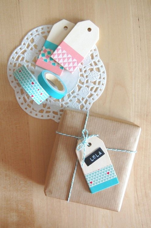 Washi Tape Gift Wrapping / Washi Tape para envolturas