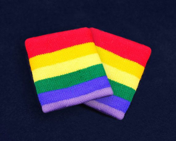 25 Pairs Rainbow Sport Sweat Bands in Bags 25 Pairs