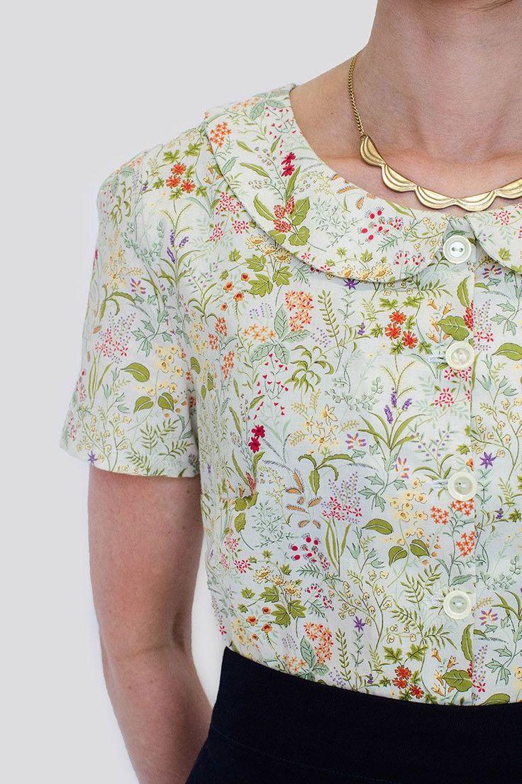 Colette Patterns Violet Blouse Sewing Pattern
