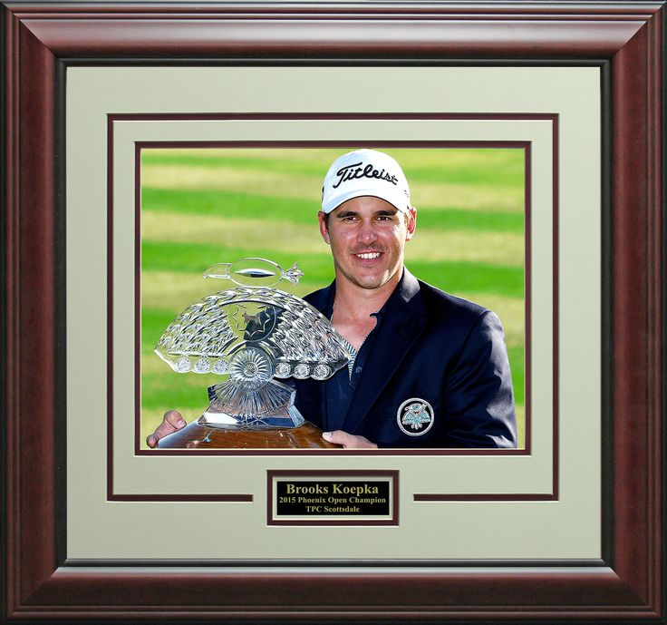 Signature Royale - Brooks Koepka 2015 Phoenix Open Champion Photo Display., $75.00 (http://www.signatureroyale.com/brooks-koepka-2015-phoenix-open-champion-photo-display/)