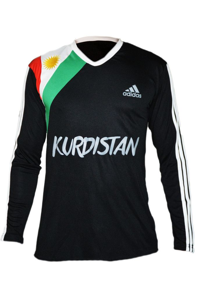 Kurdistan Shirt Long Sleeve Black – Kurdish Webshop | Free Kurdish bracelets with this Kurdistan shirt