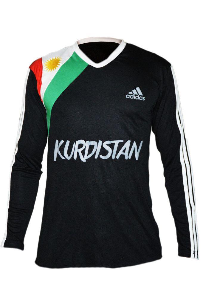 Kurdistan Shirt Long Sleeve Black – Kurdish Webshop   Free Kurdish bracelets with this Kurdistan shirt