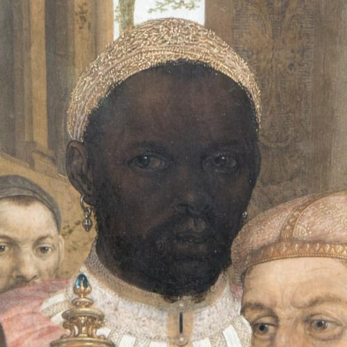 "medievalpoc: "" Anonymous artist (Netherlandish) The Adoration of the Magi (detail) Netherlands/Belgium (c. 1520) Gemäldegalerie, Berlin photo via Frances d'Ath (Twitter) """